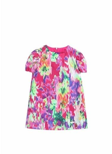MSGM MSGM Colorblocked Desenli Kız Çocuk Elbise 101637531 Renkli